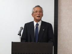 岡本京都府老連副会長、若手委員長開会あいさつ