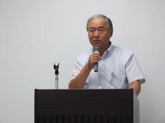 寸田事務局長から京都府老連若手委員会の現状報告