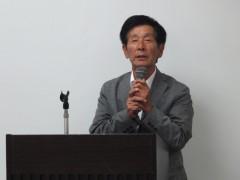 閉会挨拶阿部SC大阪理事、若手委員会副委員長
